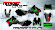 SUZUKI DRZ 400 E SM Graphics Kit Decal Design Stickers Motocross MX Enduro 99-17
