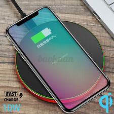 10W Qi Wireless Fast Charging Charger Pad Receiver For iPhone 11 XS Max XR *