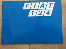 Car Brochure. Fiat 124. c1974. 12 Pages. Free UK P&P.