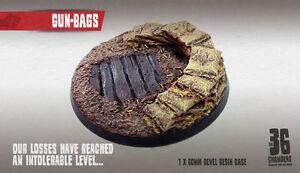Gun-Bags 60mm round bevel resin base