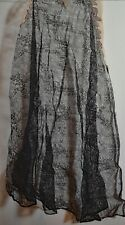 VINTAGE ANTIQUE BLACK SILK CHANTILLY LACE GORES FRAGMENTS UU688