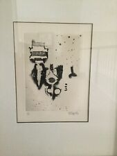 Antiques Russell Intaglio Etching Contemporary Sarte Abstract Proof Cheap Price Mid Century Betty W Other Antique Decorative Arts