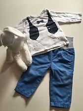 Baby Set Gr. 74 Esprit Hose + Shirt m. Fliege langarm