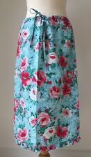 Ladies Monsoon Pinks Red Blue & White Floral Skirt Size 12 100% cotton
