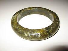 Vintage beautiful marble marbled dark green plastic lucite bracelet bangle
