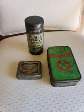 Antique Lot of 3 Tins~Boy Scout,Shuttlecocks,Tar Soap~Circa 1920-50's Free Ship!