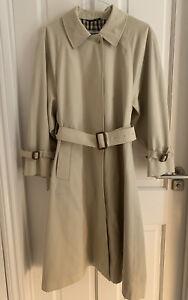 Vintage Aquascutum Mac Coat Trench Beige  UK Size 14