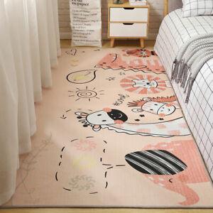 Cartoon Rugs for Bedroom Girls Anti-slip Mat Washable Carpet Rug for Living Room