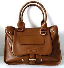 Authentic Longchamp Leather Balzane Saddle Tote Bag -Tan
