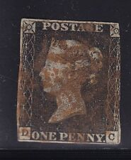 GB # 1 used penny black light red cancel with nice color scv $ 320 ! see pic !