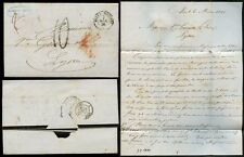 FRANCE 1856 MOURNING STATIONERY LETTER AVIGDOR L.AINE 10c NIZZA MARITTA