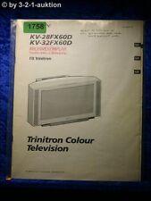 Sony Bedienungsanleitung KV 28FX60D / 32FX60D Color TV (#1758)