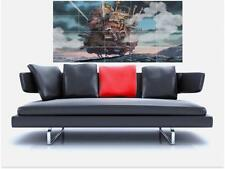 "Howl's Moving Castle énorme 59 ""x31"" carrelage mosaïque sans bordure mur Poster ANIME l'invocation"