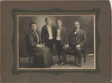 VINTAGE MR & MRS ARMSTRONG, FRED & WALTER CABINET CARD, ANSONIA, CONNECTICUT