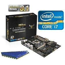 INTEL I7 4770K QUAD CORE CPU SABERTOOTH Z97 MARK 2 MOTHERBOARD 16GB MEMORY COMBO