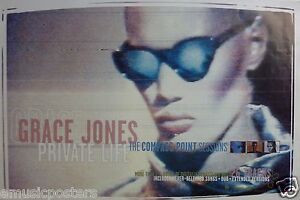 """GRACE JONES """"PRIVATE LIFE: COMPASS POINT SESSIONS"""" U.S. PROMO POSTER - New Wave"""