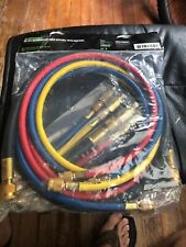 Hilmer set of 4 refrigerator hoses with ball valve adapters