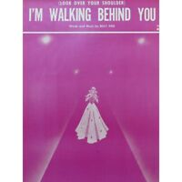 REID Billy I'M Walking Behind You Chant Piano 1953 partition sheet music score