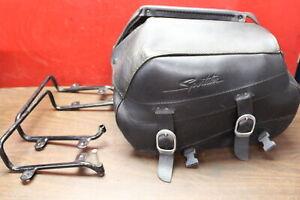 1995-2003 Harley Sportster Cargo Luggage Saddlebag Bag SET W/ Support Brackets