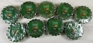 Yankee Candle Tarts: BALSAM & CEDAR Wax Melts Lot of 9 Green New Forest Winter