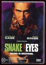 Snake Eyes - R4 Dvd 90s Action Nicholas Cage Brian De Palma
