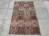 Shabby Chic Worn Vintage Traditional Hand Made Oriental Pink Wool Rug 170x99cm