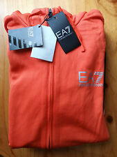 Emporio Armani EA7 Men's Zipped Sports Hoodie - M - Orange