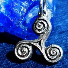 TRISKEL 10 Amulett Silber Celtic Kelten Larp Wicca Gothic