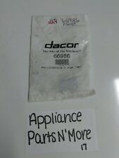 "NEW DACOR MICROWAVE MICROSWITCH 2 PIN ""NO"" 66986 FREE SHIPPING"