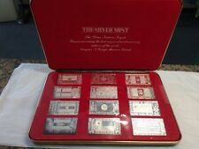 1973 The Silver Mint Silver Producing Nations 12 Ingot Set Silver Art Bars
