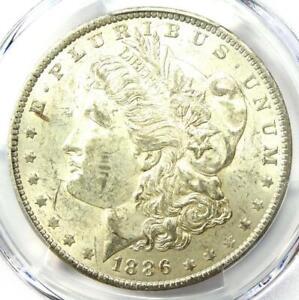 1886-O Morgan Silver Dollar $1 - Certified PCGS AU58 - Rare Date - Near MS UNC!