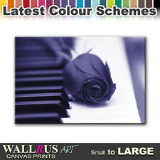 Roses Love Piano FLORAL  Canvas Print Framed Photo Picture Wall Artwork WA