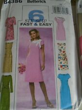 "PATRON ""BUTTERICK 6 VERSIONS ROBE CHIC     T 44 AU 50  N°4386"