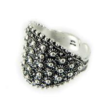 Anello filigrana fede sarda larga argento brunita Sardinian fide silver Ring