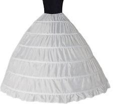 6 Hoops Crinoline Petticoats Slips Underskirt Floor Length for Bridal Gown W010