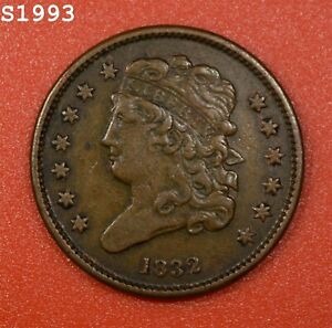 """1832 Classic Head Half Cent """"XF"""" *Free S/H After 1st Item*"""