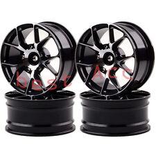1057 BLACK 4xWheels Rim Aluminum 5Y Spoke On-Road Drift Sakura HSP Tamiya 1/10