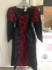 BNWT Black Red VAMPIRELLA Halloween Fancy Dress Dressing Up Costume 6-7 Years