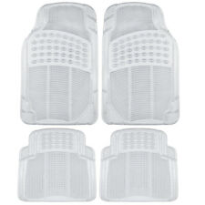4pc Transparent Rubber Car Floor Mats - Heavy Duty All Weather Clear Front/Rear