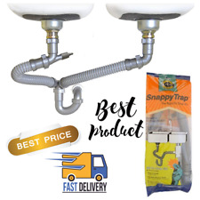 Drain Kit Snappy Trap Double Bowl Kitchen Sinks Plumbing Waste Disposer 1 1/2""