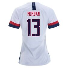 6eddeee0b Alex Morgan  13 USA WOMENS White 2019 World Cup SOCCER JERSEY