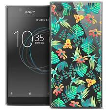 """Coque Crystal Gel Pour Sony Xperia L1 (5.5"""") Extra Fine Souple Spring Tropical"""