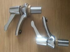 Pegler 351902 Mercia QT Lever Bathroom Bath Taps Pair Chrome