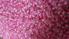 Perles de rocaille  3mm 20g transparent et rose