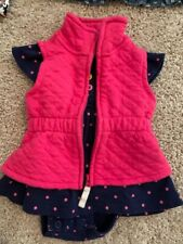 Gentle Used- Carters Girls size 3 Mnths Dress & Vest.