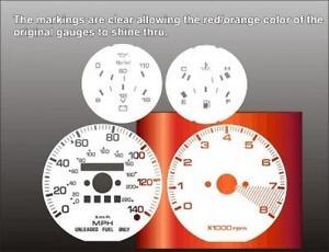 1984-1985 Mazda RX7 N/A Dash Cluster White Face Gauges 84-85