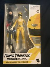 Hasbro power rangers lightning collection Mighty Morphin Yellow Ranger MIB