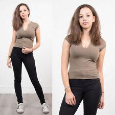 Nike Cotton Patternless Basic T-Shirts for Women