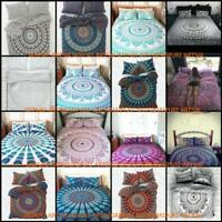 Indian Elephant Mandala Duvet Doona Quilt Cover Set Double Queen Size Bed Cotton