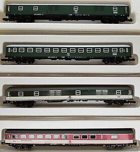 Marklin Mini-Club Z scale USED #8711, #8712, #8722 & #8723 Set of 4 DB Coaches